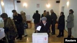 Pamje nga zgjedhjet në Kroaci