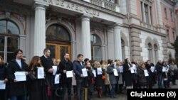 Румънски прокурори на протест в Клуж