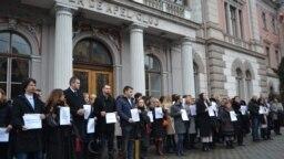 Protestul procurorilor de la Cluj - courtesy to Clujust.ro
