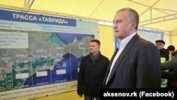 Сергей Аксенов на открытии первого участка трассы «Таврида» от Симферополя до Белогорска, декабрь 2018 года