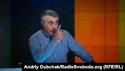 Євген Комаровський у студії Радіо Свобода