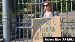 Vlada Ciobanu de la Occupy Guguţă. 27 august 2019