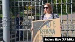 Protestatara Vlada Ciobanu de Ziua Independenţei. 27 august 2019
