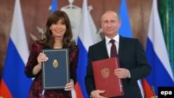 Cristina Fernandez de Kirchner dhe Vladimir Putin