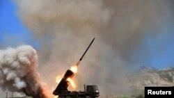 Raketat në Korenë Veriore, gjatë ushtrimeve
