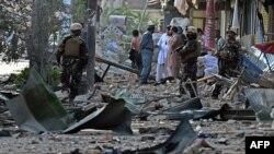 صحنه انفجار یک فروند کامیون در منطقه سیاهسنگ کابل