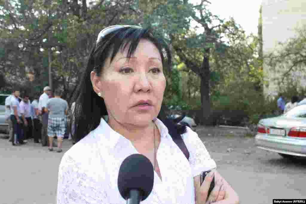 Асия Сасыкбаева считает, что наказание несозразмерно жесткое в отличие от других преступлений