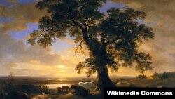 Ашэр Браўн Дзюран, «Адзінокі дуб» (1844)