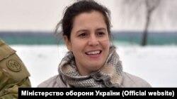 Член Палати представників Конгресу США Еліс Стефанік в Україні. Лютий 2018 року