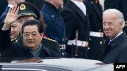 Ху Цзиньтао по прибытии в США