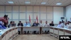 مجلس محافظة السليمانية مؤتمرا صحفيا