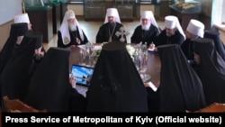 Синод ПЦУ, на котором присутствовал Филарет, но решения которого не завизировал своей подписью. Киев, 24 мая 2019 года