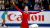 Казахстанская фигуристка Элизабет Турсынбаева на чемпионате мира в Сайтаме, Япония, 22 марта 2019 года.