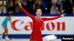 Элизабет Тұрсынбаева әлем чемпионатында. Сайтама, 22 наурыз 2019 жыл.