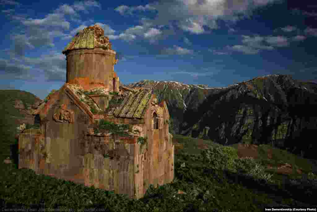 In Armenia's south, an ancient church weathered by time.