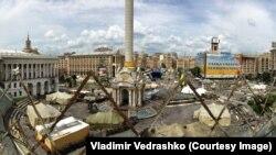 Палаточный городок на Майдане, июль 2014 г.