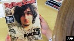 """""""Rolling Stone"""" žurnalynyň baş sahypasynda Boston partlamasyny amala aşyrmakda aýyplanýan Johar Sarnaýewiň suraty çap edildi."""