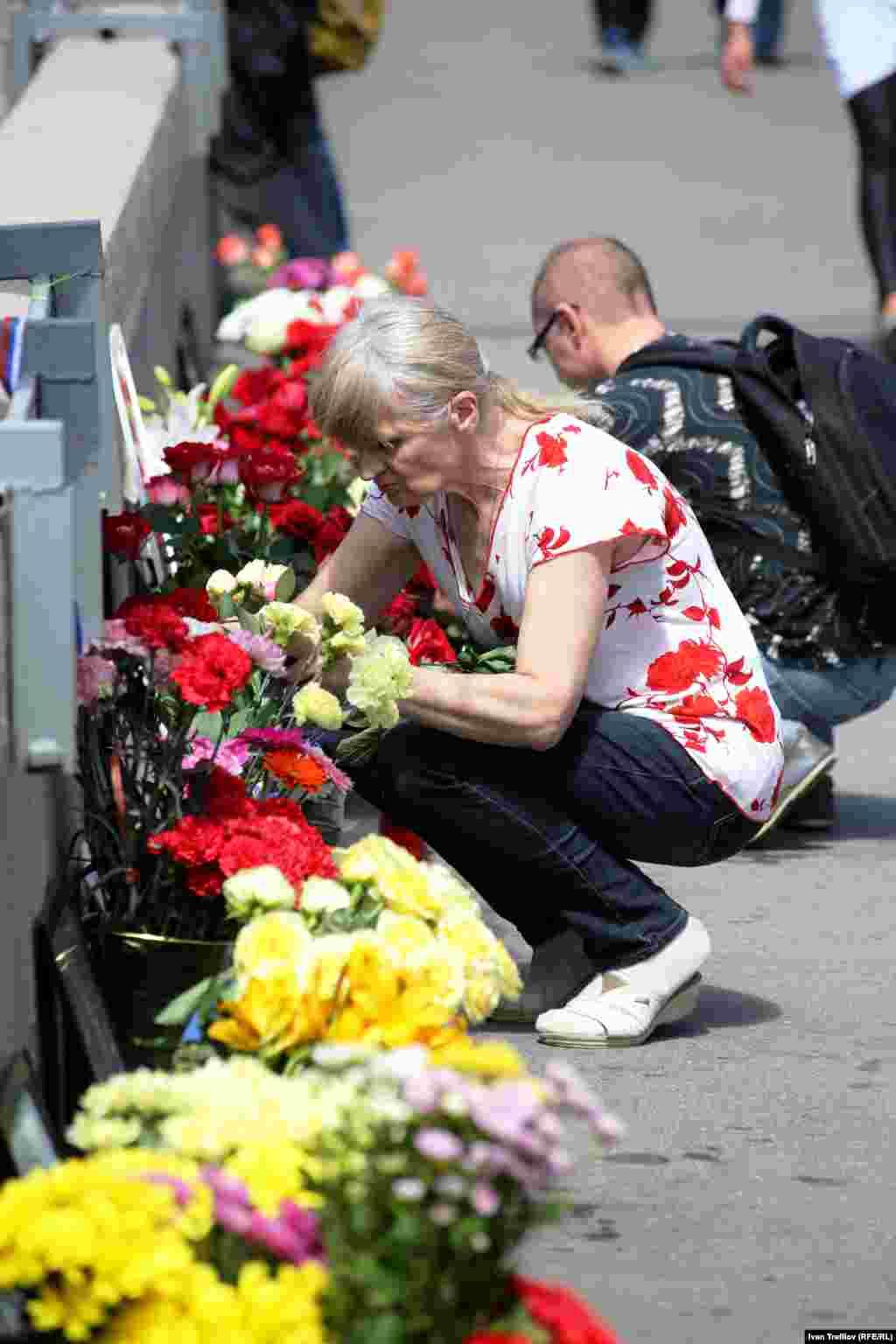 Сто дней после убийства Бориса Немцова. Большой Москворецкий мост, 7 июня 2015 года
