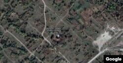 ეკლესია და ნასახლარები გუგლის რუკაზე