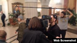 Зйомки фільму «Іній» з Ванессою Параді
