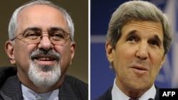 Министр иностранных дел Ирана Мохаммад Джавад Зариф (на левой фотографии), госсекретарь США Джон Керри (на правой фотографии)