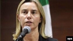 шефица на италијанската дипломатија Федерика Могерини