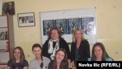Ružica Marjanović sa svojim učenicima