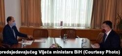 Susret premijera Kantona Sarajevo Marija Nenadića i predsjedatelja Vijeća ministara BiH Zorana Tegeltije, Sarajevo, 21. srpnja