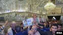 Похороны офицера Корпуса стражей Исламской революции, убитого в Сирии. 7 июня 2018 года