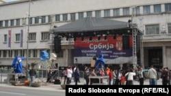 Protest naprednjaka protiv deklaracije vojvođanskih vlasti, april 2013. foto: Norbert Šinković