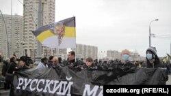 Во-первых, «Русский марш» - это праздничное шоу националистов - был самым масштабным за последние семь лет