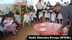"""Дебарската детска градинка """"Брешија"""", која е дел од европскиот проект """"Мали научници""""."""