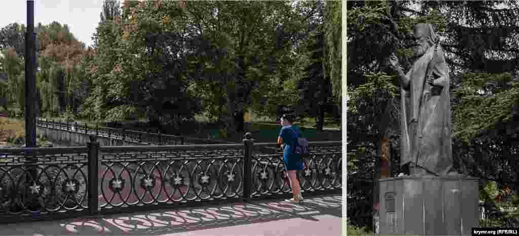 На місці пам'ятника Пушкіну стоїть пам'ятник святителю Луці, хірургу Войно-Ясенецькому. Пам'ятник Пушкіну переміщений до перетину вулиць Пушкіна і Горького