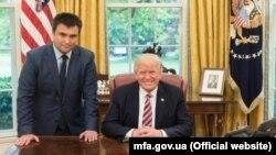 Встреча министра иностранных дел Украины Павла Климкина и президента США Дональда Трампа