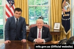 Ukrainian Foreign Minister Pavlo Klimkin met with Trump in the Oval Office on May 11.