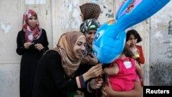 Prima zi a acordului de încetare a focului d etreei zile, Gaza City, 5 august 2014.
