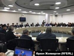 Жемқорлықпен күрес туралы жиынға қатысушылар. Астана, 24 қазан 2017 жыл.