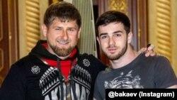 Глава Чечни Рамзан Кадыров и певец Зелимхан Бакаев