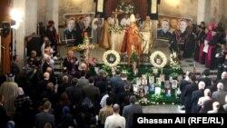 """من مراسم إحياء ذكرى ضحايا حادثة كنيسة """"سيدة النجاة"""" ببغداد"""