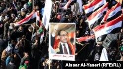 تظاهرة موالية لحكومة نوري المالكي في النجف