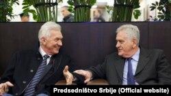 Susret počasnog konzula i predsednika Srbije: Genadij Timčenko i Tomislav Nikolić u Sankt Peterburgu