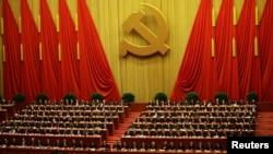 Қытай коммунистік партиясы ұлттық конгресінің отырысы. Пекин, 14 қараша 2012 жыл. (Көрнекі сурет)