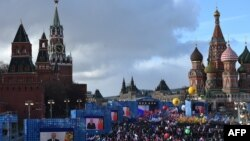 Прокремлевский митинг, посвященный аннексии Крыма, 18 марта 2016