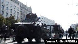 Безбедносните сили во Белград пред одржување на Парадата на гордоста