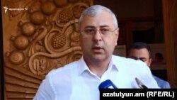 Кандидат в мэры Еревана от партии «Дашнакцутюн» Мкаэл Манукян, Ереван, 23 сентября 2018 г.
