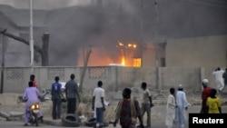 """На месте одного из терактов, организованного """"Боко Харам"""". Город Кано (Нигерия), январь 2012 года"""