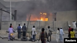 Кано қаласында полиция бекетінде болған жарылыс. Нигерия, 20 қаңтар 2012 жыл. (Көрнекі сурет).