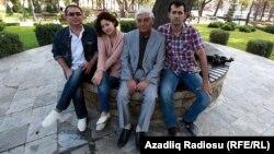 Arxiv fotosu: Professor Rafiq Əliyev AzadlıqRadiosunun əməkdaşları ilə. Bakı, 22 oktyabr 2012
