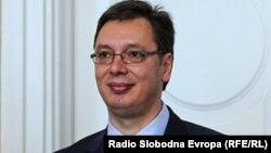 Српскиот премиер и новоизбран претседател, Александар Вучиќ.