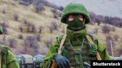 Расейскі салдат у Крыме, 2014